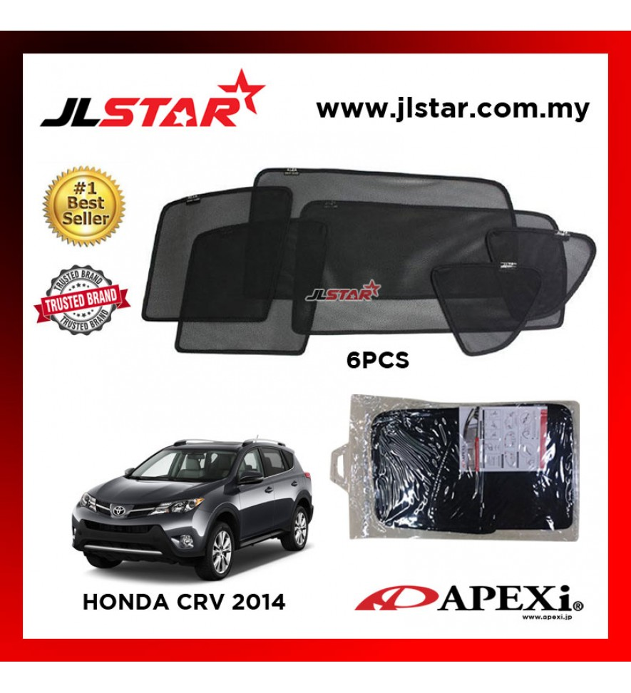 APEXI HONDA CRV 2014 CUSTOM FIT OEM SUNSHADES CAR CURTAIN 6 PCS