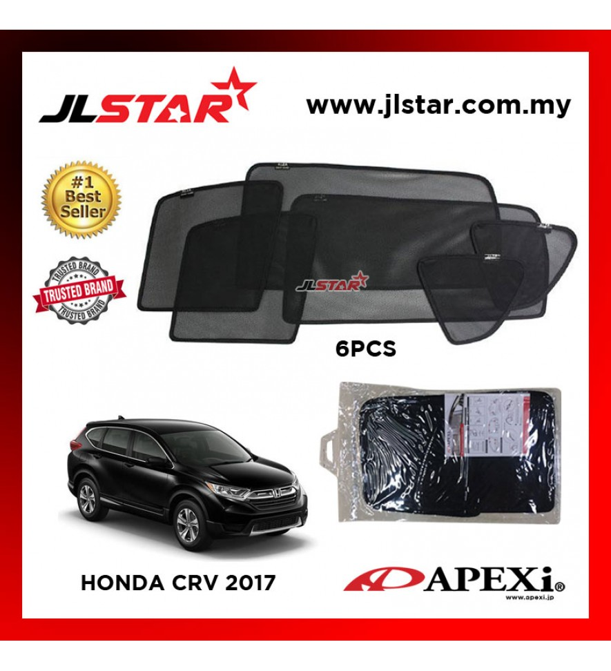 APEXI HONDA CRV 2017 CUSTOM FIT OEM SUNSHADES CAR CURTAIN 6 PCS