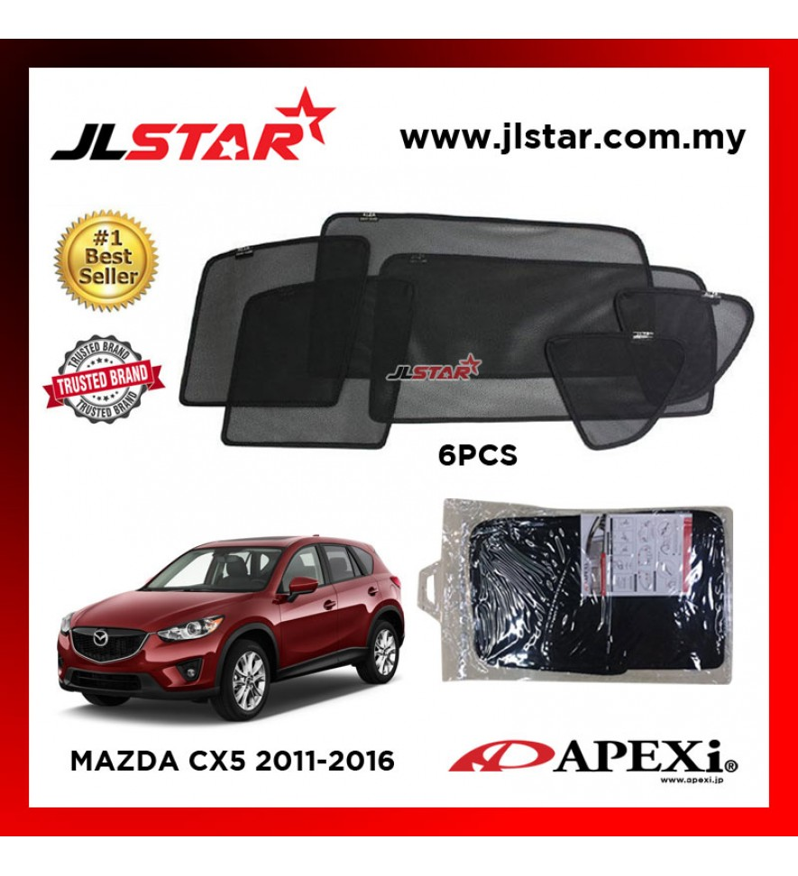 APEXI MAZDA CX5 2011-2016 CUSTOM FIT OEM SUNSHADES CAR CURTAIN 6 PCS