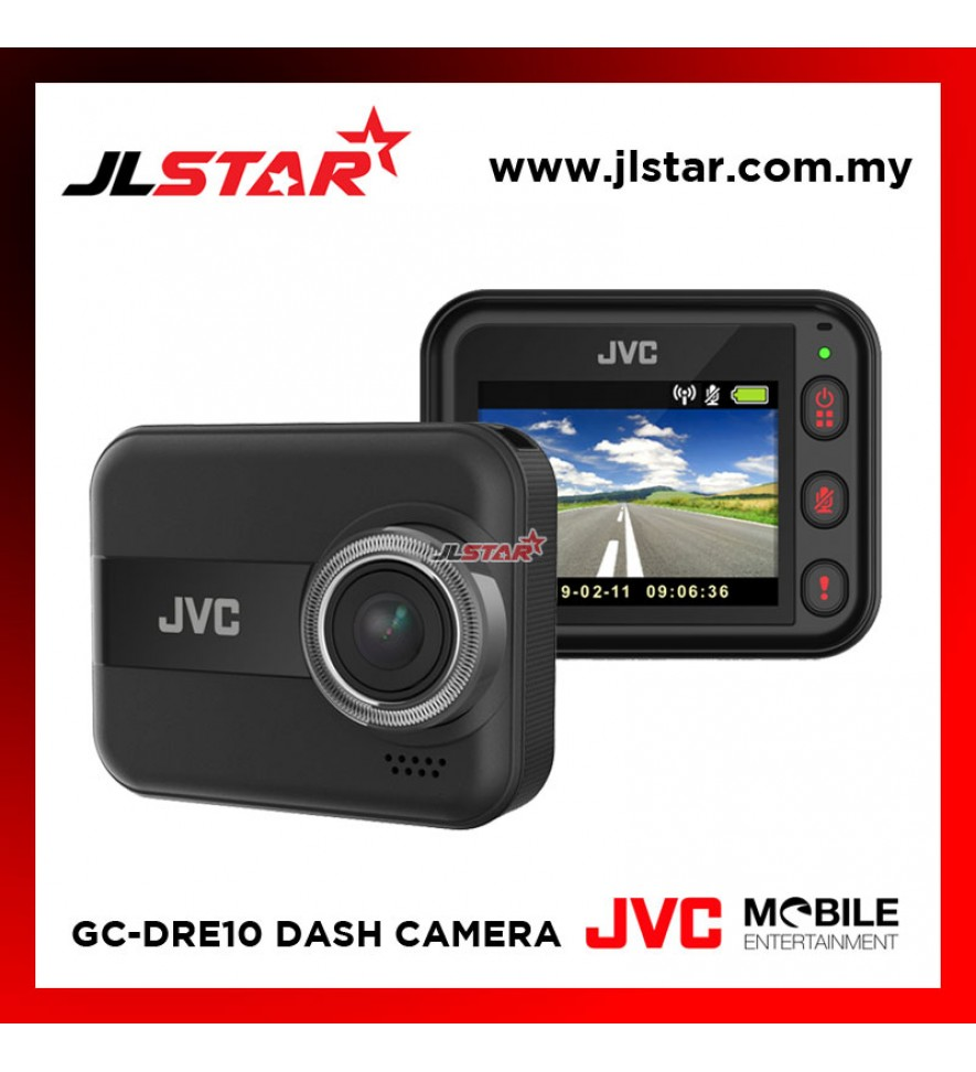 JVC GC-DRE10 FULL-HD WITH WI-FI 3-AXIS G-FORCE SENSOR AND SMARTPHONE LINKAGE CAR DASHCAM DVR DRIVING RECORDER