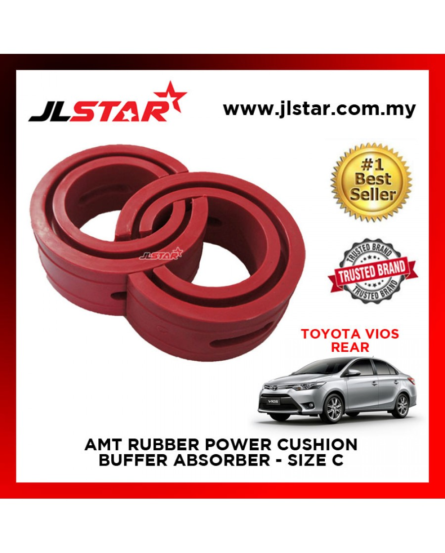 TOYOTA VIOS 2015 REAR SIZE C AMT RUBBER POWER CUSHION BUFFER ABSORBER COIL SPRING RUBBER DAMPER