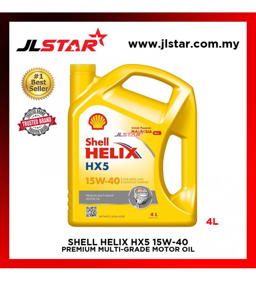 SHELL HELIX HX5 15W-40 PREMIUM MULTI-GRADE MOTOR OIL ENGINE OIL 4L