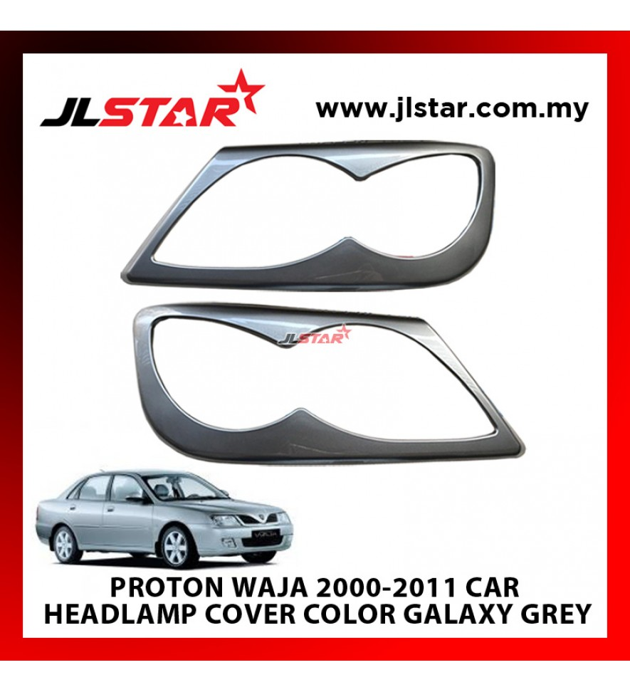 PROTON WAJA 2000-2011 CUSTOM FIT ABS PLASTIC CAR HEADLAMP COVER COLOR GALAXY GREY