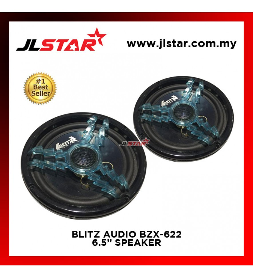 BLITZ AUDIO BZX-622 2 WAY 6.5 INCH CAR AUDIO SPEAKER