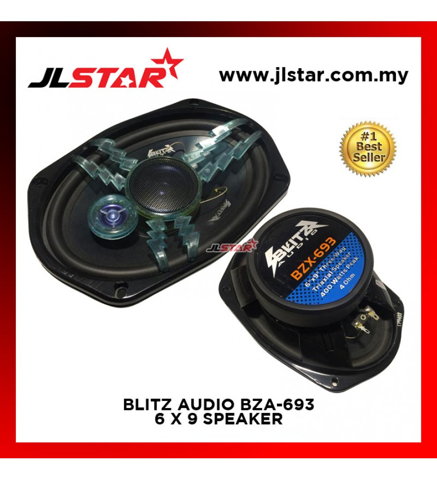 BLITZ AUDIO BZX-693 3 WAY 6X9 INCH CAR AUDIO SPEAKER