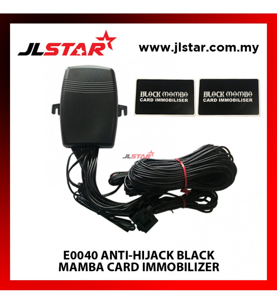 E0040 ANTI-HIJACK BLACK MAMBA CARD IMMOBILIZER