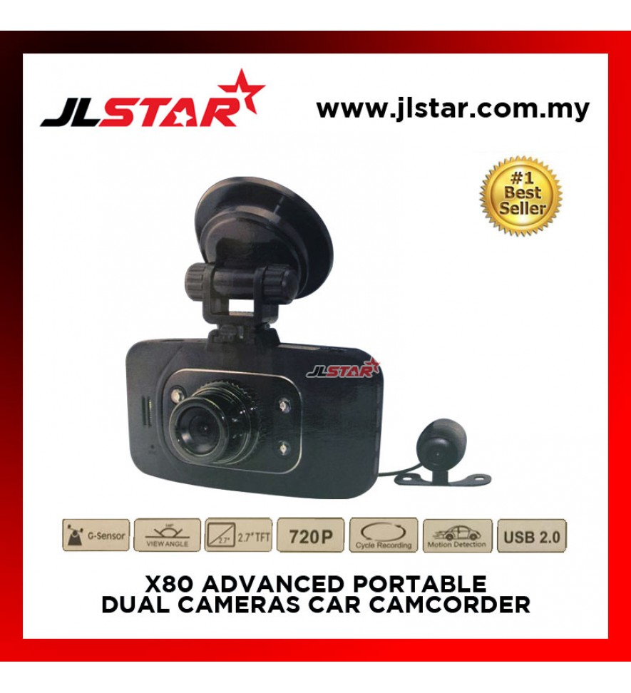 X80 ADVANCED PORTABLE CAR CAMCORDER DRIVING RECORDER