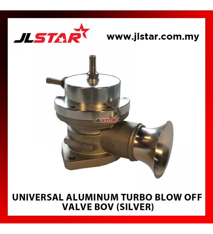 UNIVERSAL ALUMINUM TURBO BLOW OFF VALVE BOV (SILVER)