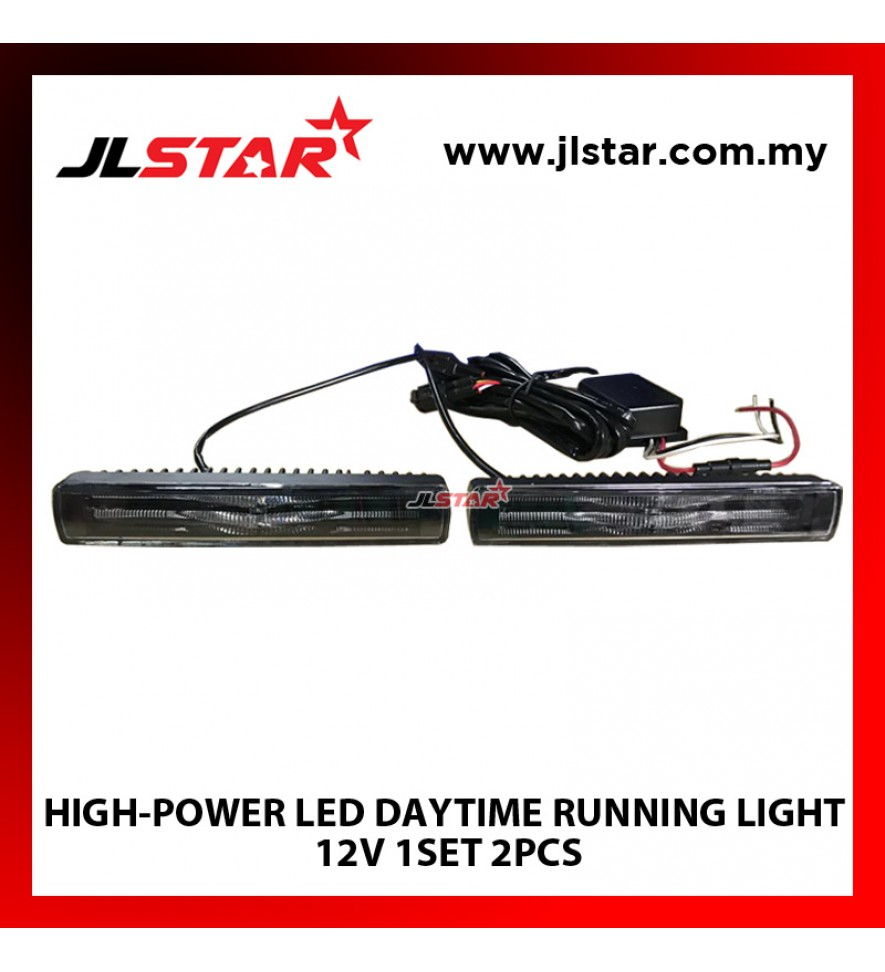 HIGH-POWER LED DAYTIME RUNNING LIGHT 12V 1SET 2PCS