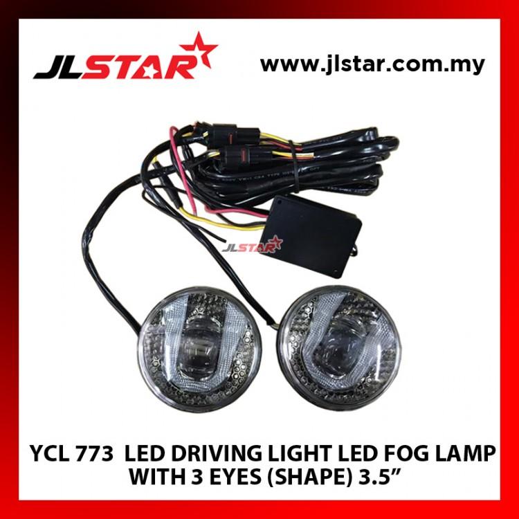 "YCL 771 LED DRIVING LIGHT LED FOG LAMP WITH 3 EYES (SHAPE) 3.5"""