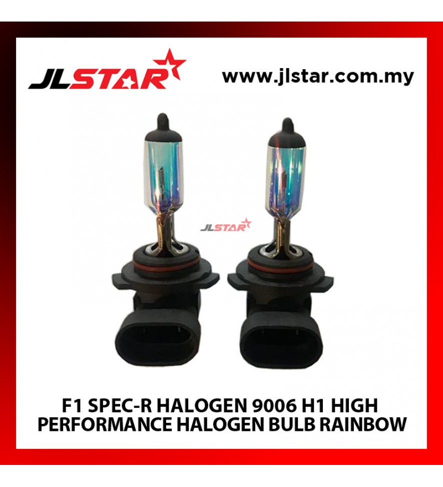 F1 SPEC-R HALOGEN 9006 H1 HIGH PERFORMANCE HALOGEN BULB RAINBOW HEADLIGHT LAMP 1SET 2 PCS