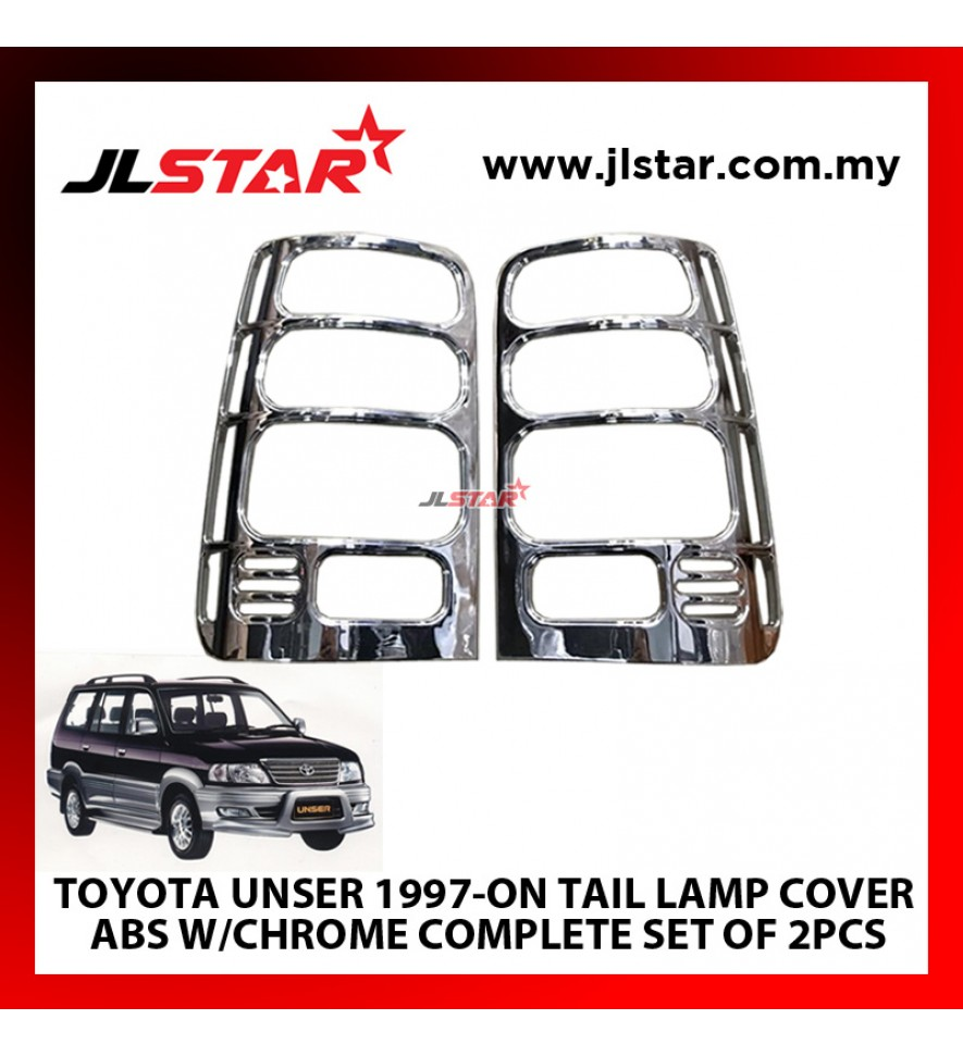TOYOTA UNSER 1997-ON TAIL LAMP COVER ABS W/CHROME COMPLETE SET OF 2PCS
