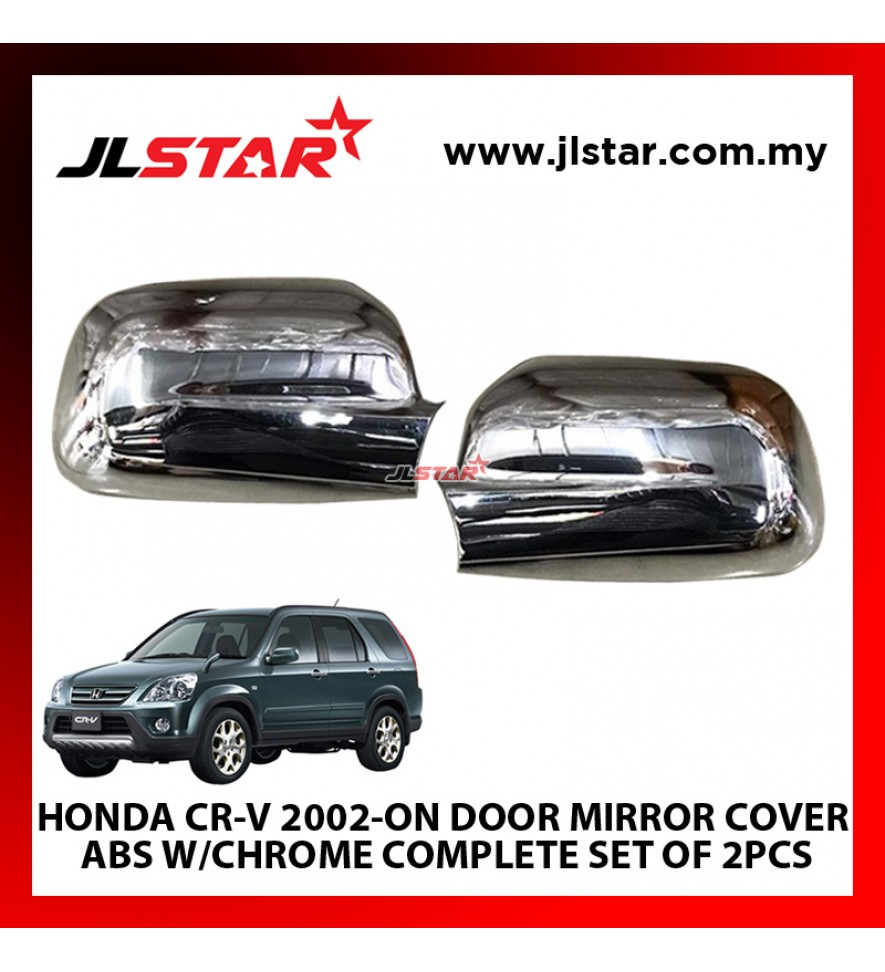 HONDA CR-V 2002-ON Y2K DOOR MIRROR COVER ABS W/CHROME COMPLETE SET OF 2PCS EASY TO INSTALL