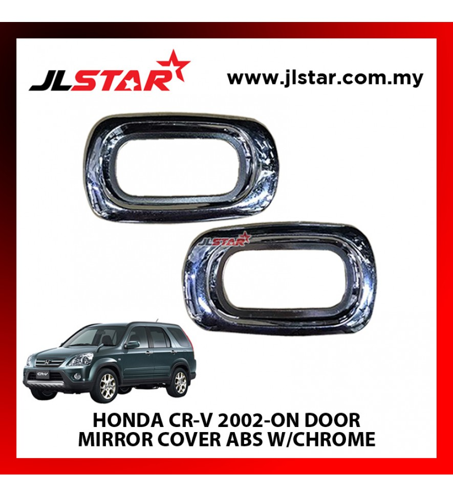 HONDA CR-V 2002-ON DOOR MIRROR COVER ABS W/CHROME COMPLETE SET OF 2PCS EASY TO INSTALL