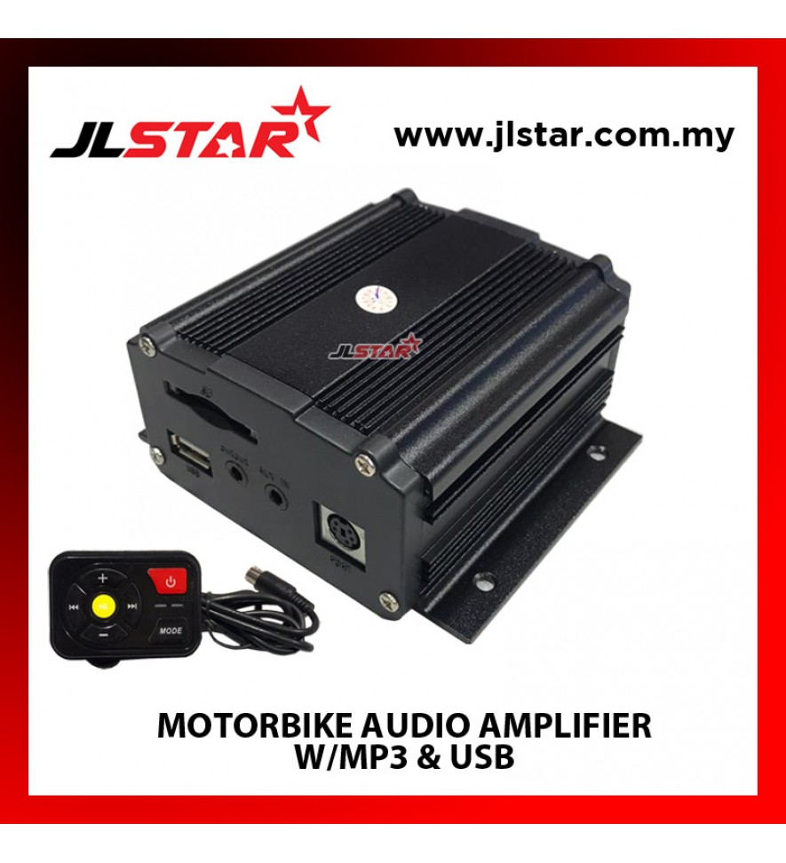 MOTORBIKE AUDIO W/MP3 & USB AMPLIFIER