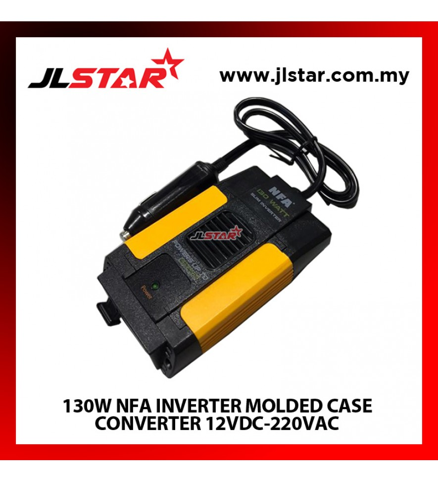 130W NFA INVERTER MOLDED CASE CONVERTER 12VDC-220VAC MODIFIED SINE WAVE INVERTER