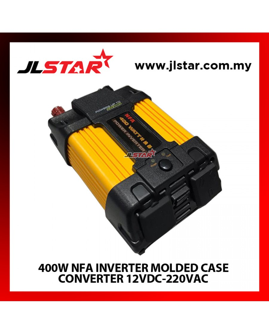 400W NFA INVERTER MOLDED CASE CONVERTER 12VDC-220VAC MODIFIED SINE WAVE INVERTER