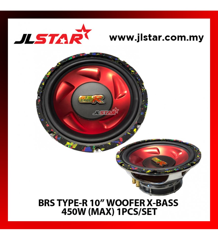 "BRS TYPE-R 10"" WOOFER X-BASS 450W(MAX) 1PCS/SET"