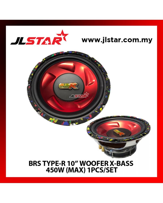 "BRS TYPE-R 10"" WOOFER X-BASS 450W(MAX) 1PCS/SET"
