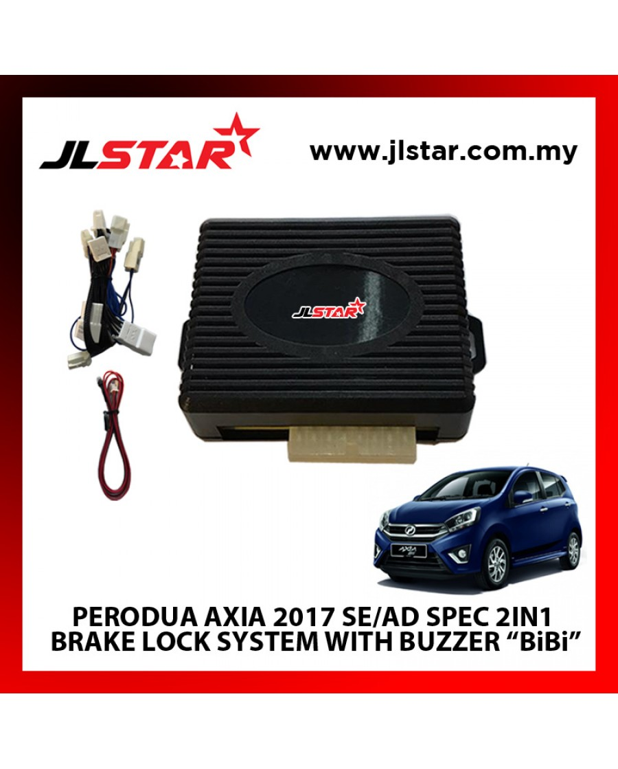 "PERODUA AXIA 2017 SE/AD SPEC 2IN1  BRAKE LOCK SYSTEM WITH BUZZER ""BiBi"" PLUG & PLAY"