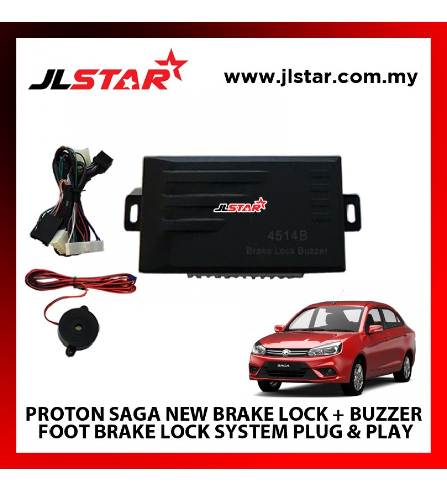 PROTON SAGA NEW BRAKE LOCK + BUZZER FOOT BRAKE LOCK SYSTEM PLUG & PLAY WIHTORT CUTTING ANY WIRE