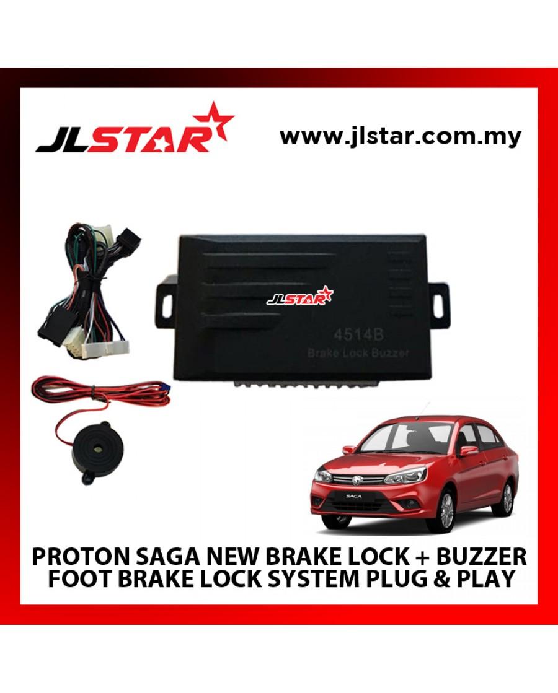 PROTON SAGA NEW BRAKE LOCK + BUZZER FOOT BRAKE LOCK SYSTEM PLUG & PLAY WIHTORT CUTTING ANY WIRE