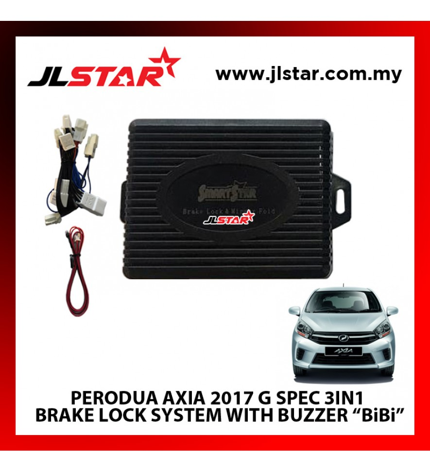 "PERODUA AXIA 2017 G SPEC 3IN1  BRAKE LOCK SYSTEM WITH BUZZER ""BiBi"" PLUG & PLAY"
