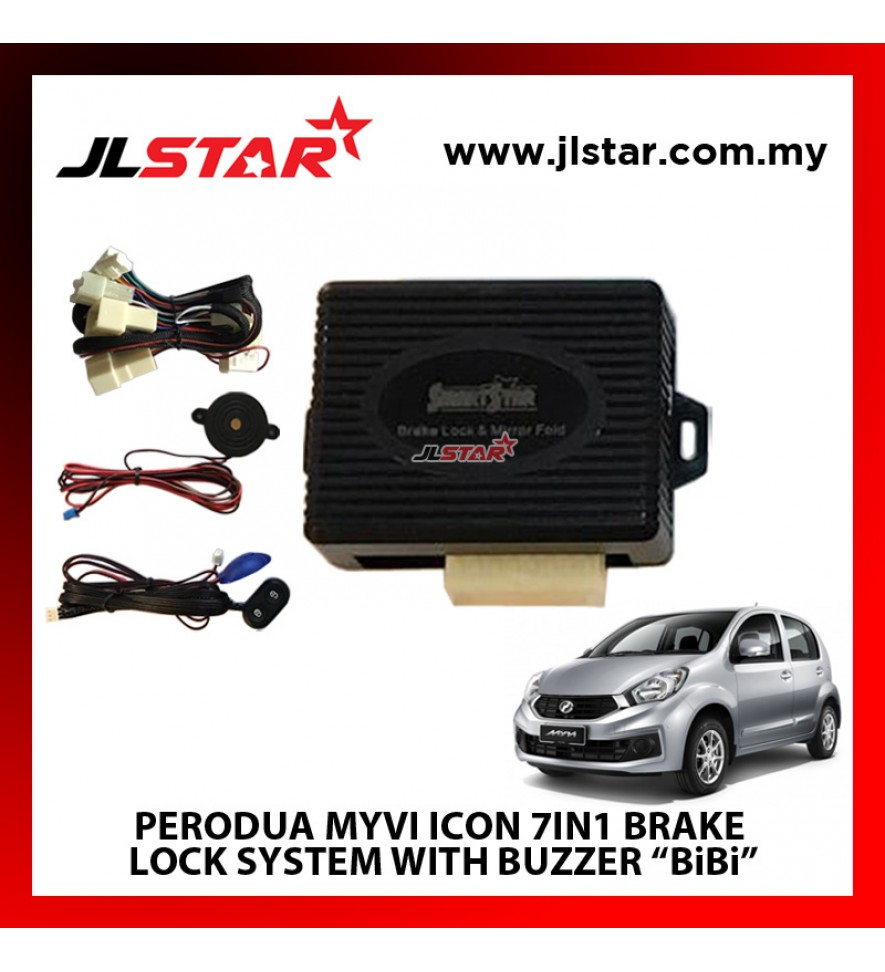 "PERODUA MYVI ICON 7IN1 BRAKE LOCK SYSTEM WITH BUZZER ""BiBi"" PLUG & PLAY"