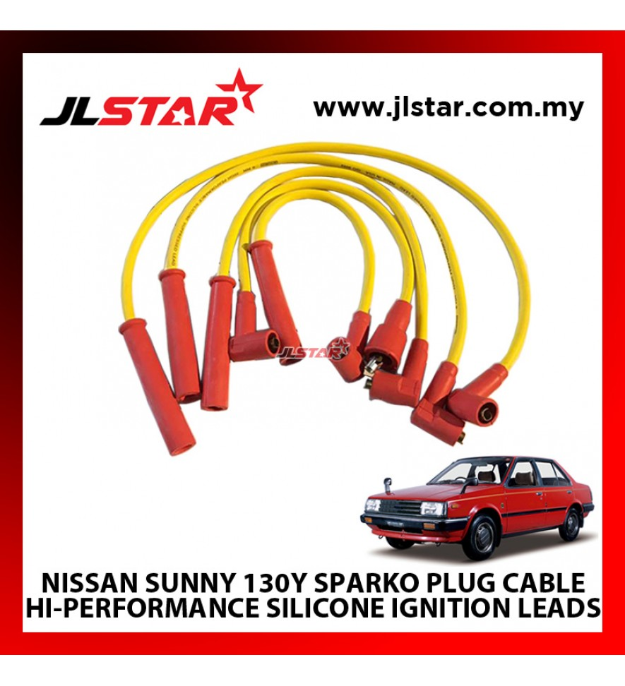 NISSAN SUNNY 130Y SPARKO PLUG CABLE HI-PERFORMANCE SILICONE IGNITION LEADS SUPPRESSED 8mm DIAMETER