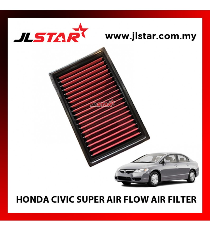 HONDA CIVIC SUPER AIR FLOW AIR FILTER REUSABLE LAST FROM 50,000 KM - 100,000 KM