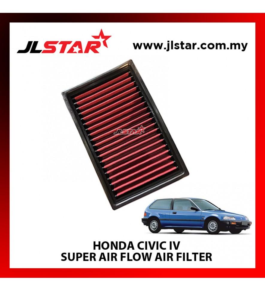 HONDA CIVIC IV SUPER AIR FLOW AIR FILTER REUSABLE LAST FROM 50,000 KM - 100,000 KM