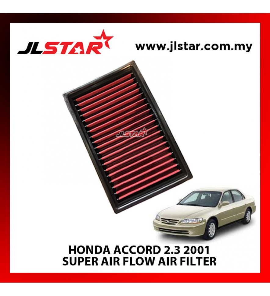 HONDA ACCORD 2.3 2001 SUPER AIR FLOW AIR FILTER REUSABLE LAST FROM 50,000 KM - 100,000 KM
