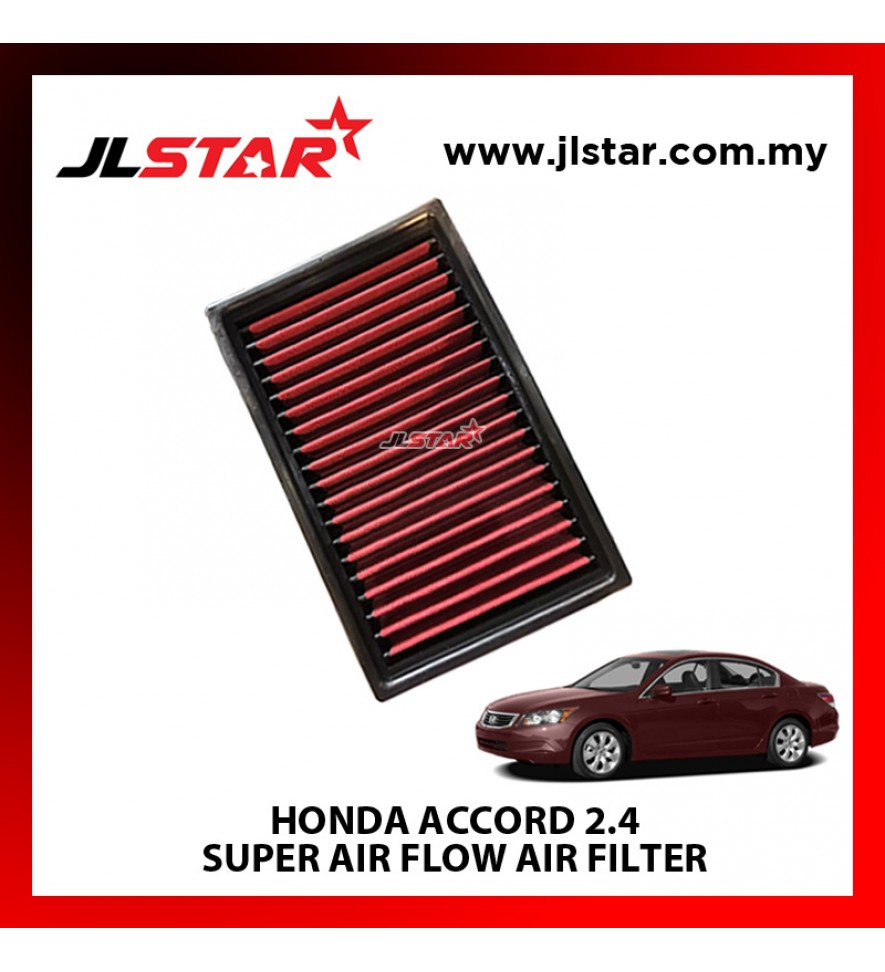 HONDA ACCORD 2.4 SUPER AIR FLOW AIR FILTER REUSABLE LAST FROM 50,000 KM - 100,000 KM