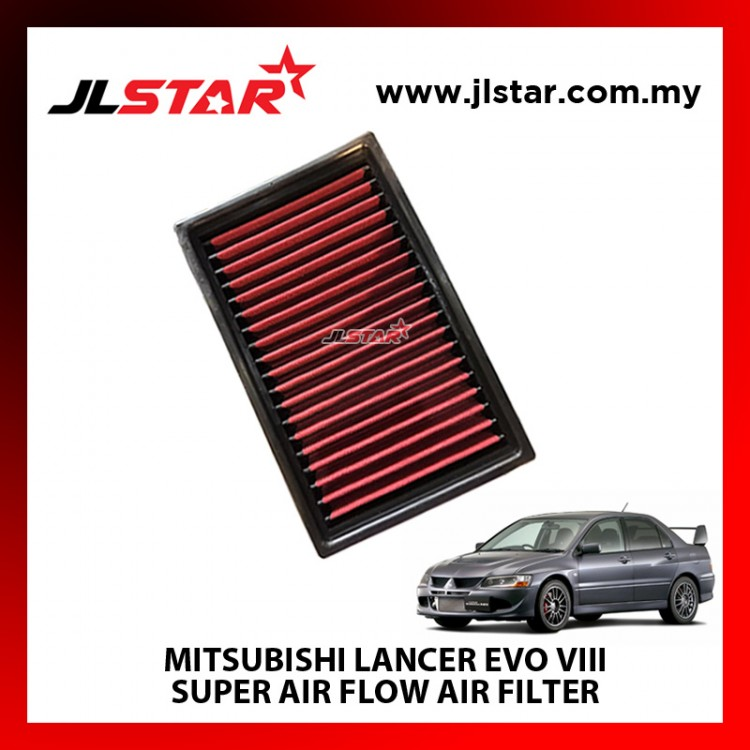 MITSUBISHI LANCER EVO VIII SUPER AIR FLOW AIR FILTER REUSABLE LAST FROM 50,000 KM - 100,000 KM
