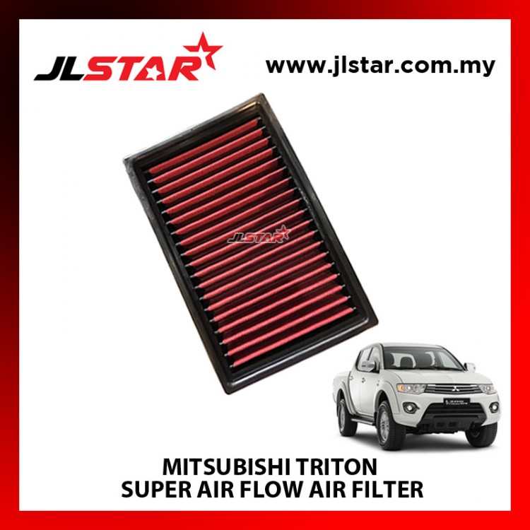MITSUBISHI TRITON SUPER AIR FLOW AIR FILTER REUSABLE LAST FROM 50,000 KM - 100,000 KM