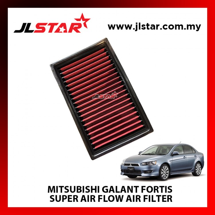 MITSUBISHI GALANT FORTIS SUPER AIR FLOW AIR FILTER REUSABLE LAST FROM 50,000 KM - 100,000 KM