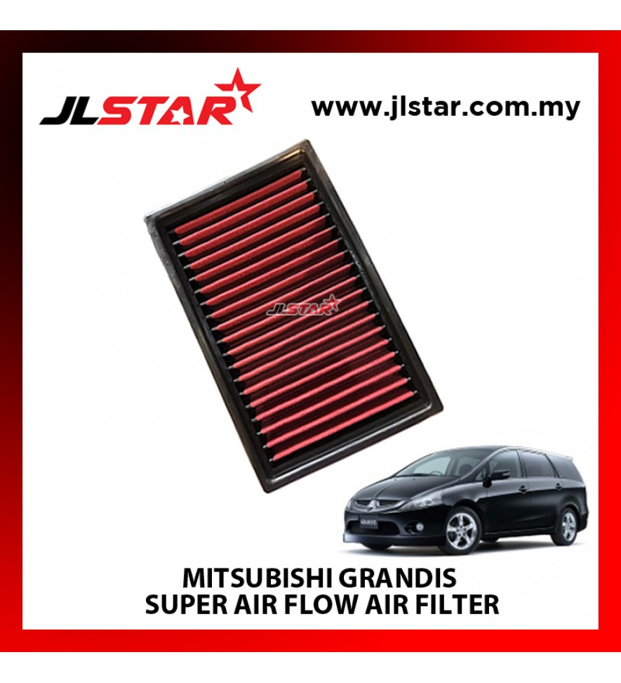 MITSUBISHI GRANDIS SUPER AIR FLOW AIR FILTER REUSABLE LAST FROM 50,000 KM - 100,000 KM