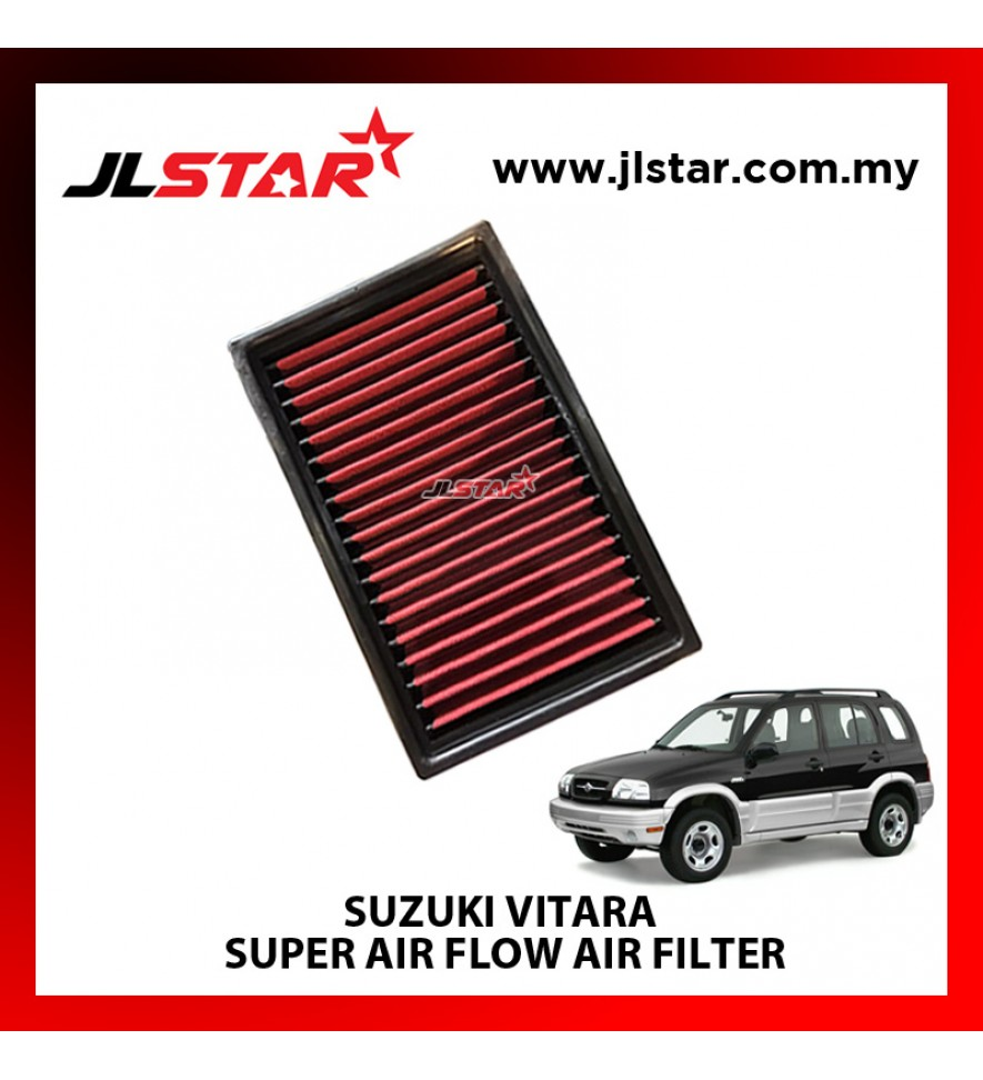 SUZUKI VITARA SUPER AIR FLOW AIR FILTER REUSABLE LAST FROM 50,000 KM - 100,000 KM