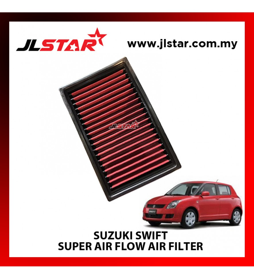 SUZUKI SWIFT SUPER AIR FLOW AIR FILTER REUSABLE LAST FROM 50,000 KM - 100,000 KM