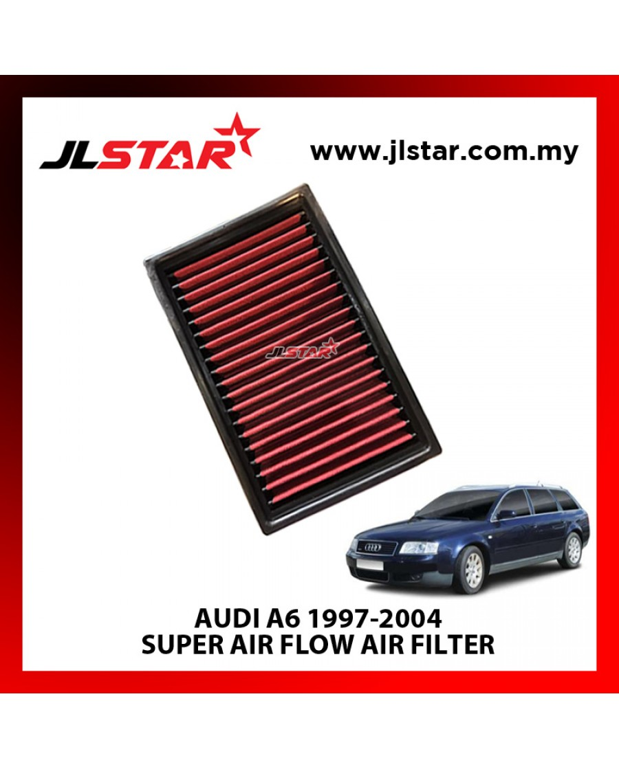 AUDI A6 1997-2004 SUPER AIR FLOW AIR FILTER REUSABLE LAST FROM 50,000 KM - 100,000 KM