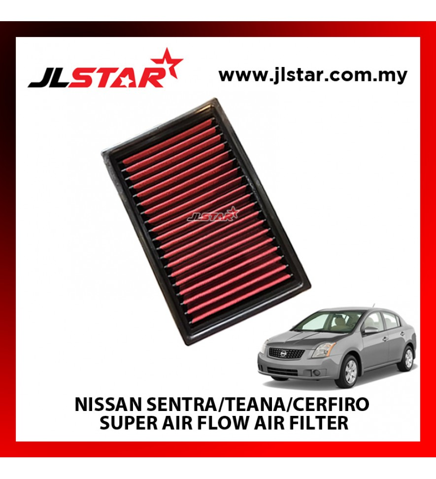 NISSAN SENTRA/TEANA/CERFIRO SUPER AIR FLOW AIR FILTER REUSABLE LAST FROM 50,000 KM - 100,000 KM