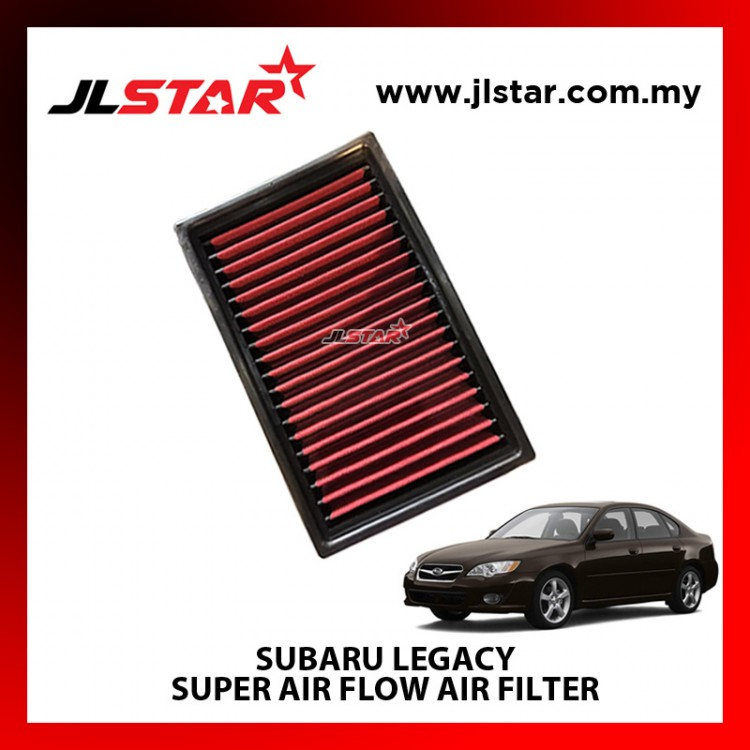SUBARU LEGACY SUPER AIR FLOW AIR FILTER REUSABLE LAST FROM 50,000 KM - 100,000 KM