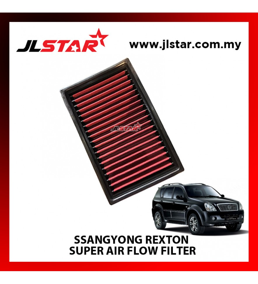 SSANGYONG REXTON SUPER AIR FLOW AIR FILTER REUSABLE LAST FROM 50,000 KM - 100,000 KM