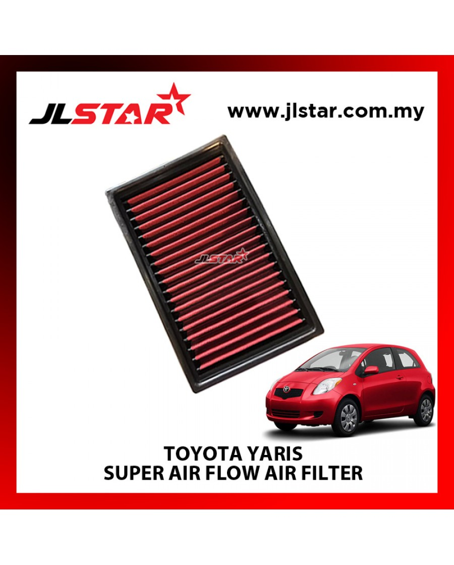 TOYOTA YARIS SUPER AIR FLOW AIR FILTER REUSABLE LAST FROM 50,000 KM - 100,000 KM