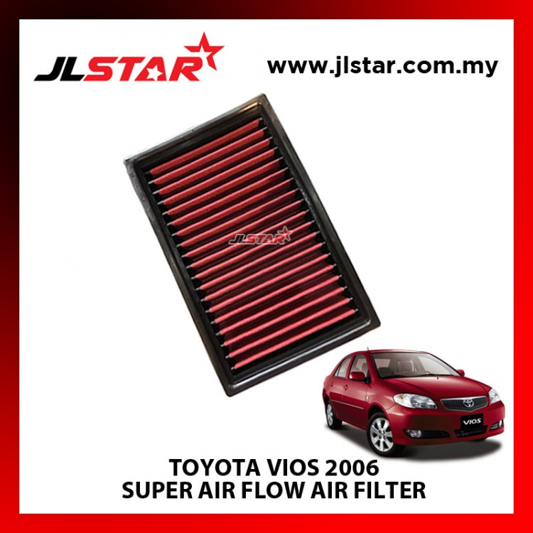 TOYOTA VIOS 2006 SUPER AIR FLOW AIR FILTER REUSABLE LAST FROM 50,000 KM - 100,000 KM