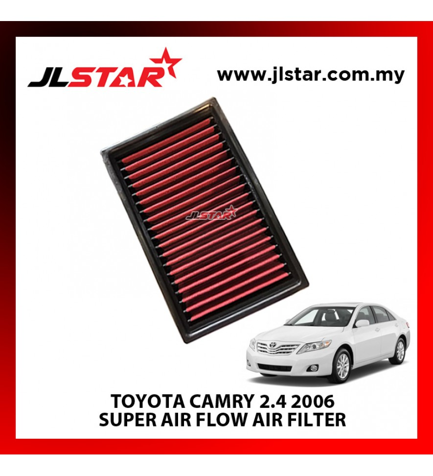 TOYOTA CAMRY 2.4 2006 SUPER AIR FLOW AIR FILTER REUSABLE LAST FROM 50,000 KM - 100,000 KM