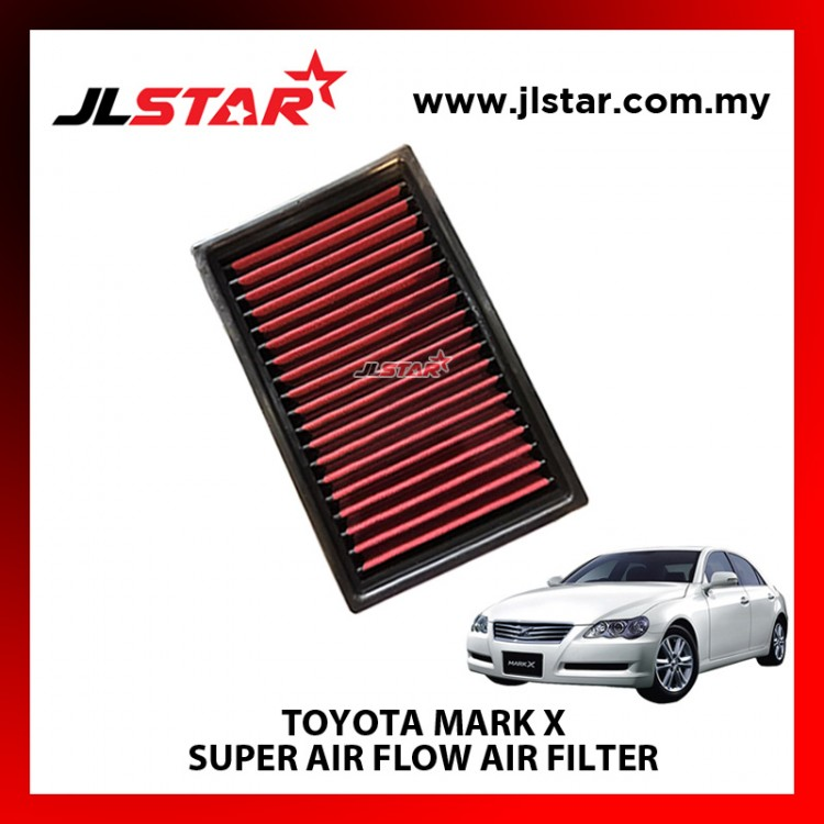 TOYOTA MARK X SUPER AIR FLOW AIR FILTER REUSABLE LAST FROM 50,000 KM - 100,000 KM