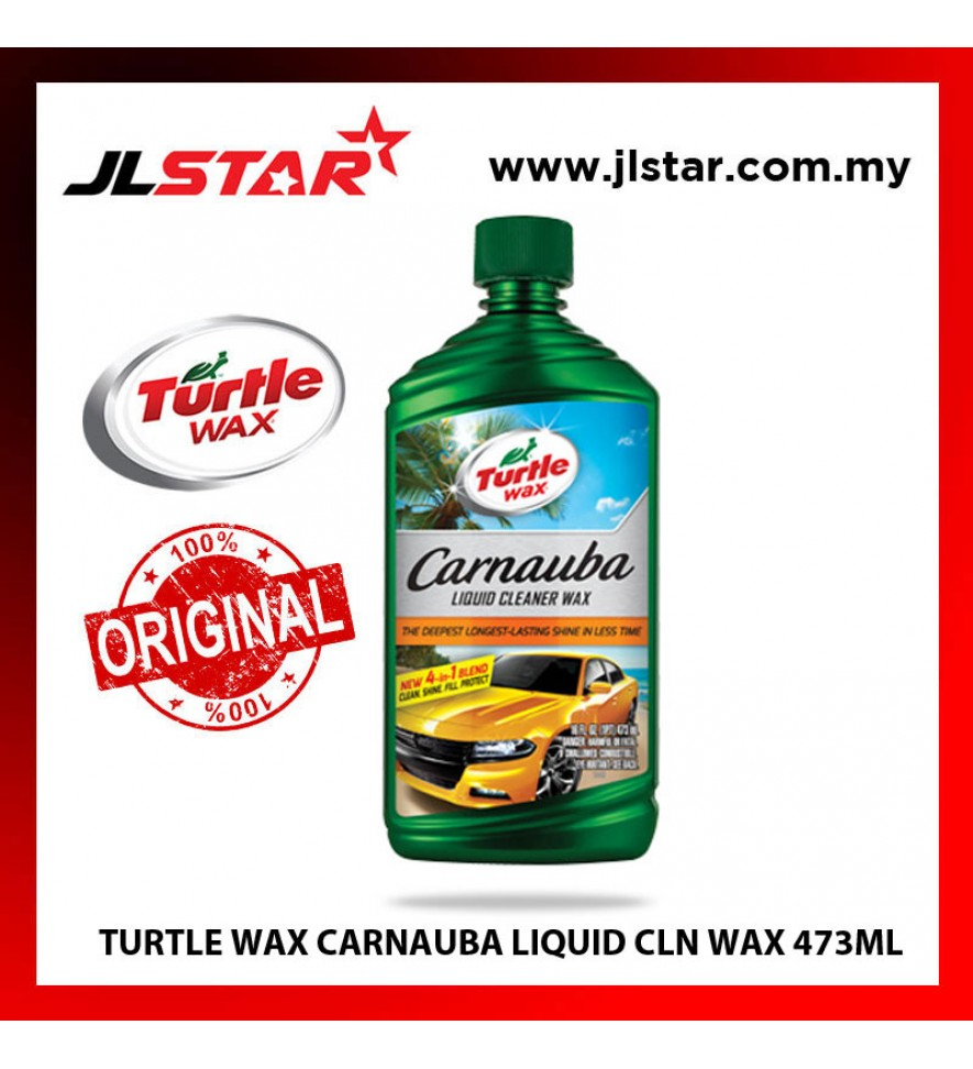 100% ORIGINAL TURTLE WAX CARNAUBA LIQUID CLEANER WAX (473ML)