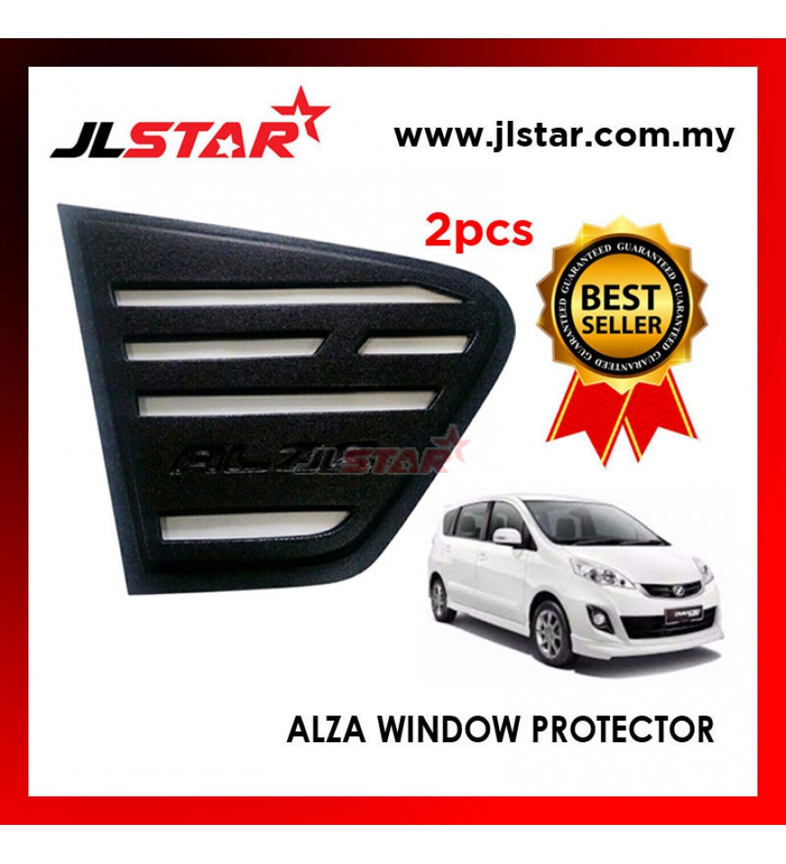 TRIANGLE MIRROR COVER PERODUA ALZA BLACK REAR SIDE WINDOW PROTECTOR