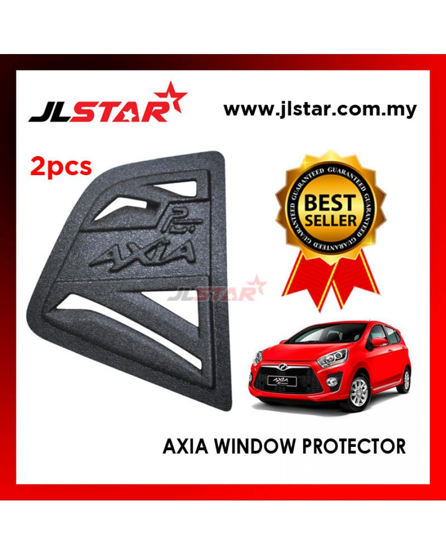 TRIANGLE MIRROR COVER PERODUA AXIA BLACK REAR SIDE WINDOW PROTECTOR